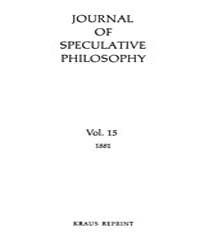 The Journal of Speculative Philosophy : ... Volume Vol.15 by Stuhr,john