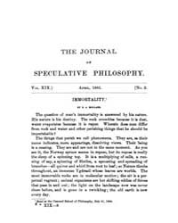 The Journal of Speculative Philosophy : ... Volume Vol.19 by Stuhr,john