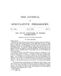 The Journal of Speculative Philosophy : ... Volume Vol.20 by Stuhr,john
