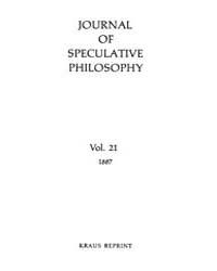 The Journal of Speculative Philosophy : ... Volume Vol.21 by Stuhr,john