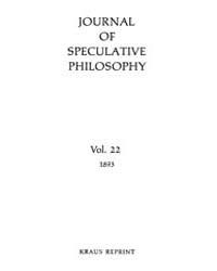The Journal of Speculative Philosophy : ... Volume Vol.22 by Stuhr,john
