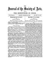 The Journal of the Society of Arts : 186... Volume Vol.12 by