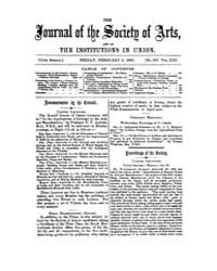 The Journal of the Society of Arts : 186... Volume Vol.13 by