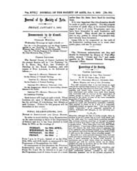 The Journal of the Society of Arts : 186... Volume Vol.17 by