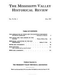 The Mississippi Valley Historical Review... Volume Vol. 6 by