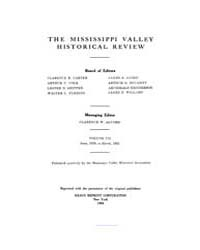 The Mississippi Valley Historical Review... Volume Vol. 7 by