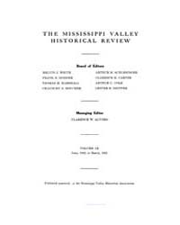 The Mississippi Valley Historical Review... Volume Vol. 9 by