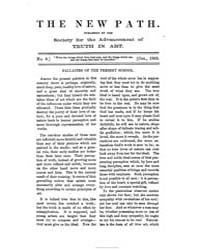 The New Path : 1863 Oct. No. 6, Vol. 1 Volume Vol. 1 by