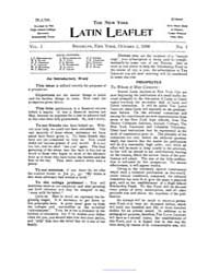 The New York Latin Leaflet : 1900 Oct. 1... Volume Vol. 1 by
