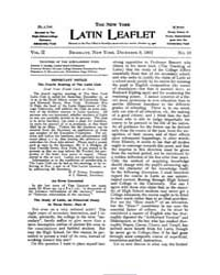 The New York Latin Leaflet : 1901 Dec. 9... Volume Vol. 2 by