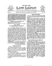 The New York Latin Leaflet : 1901 Feb. 1... Volume Vol. 1 by