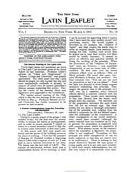The New York Latin Leaflet : 1901 Mar. 4... Volume Vol. 1 by