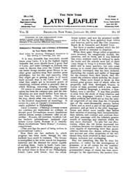 The New York Latin Leaflet : 1902 Jan. 2... Volume Vol. 2 by