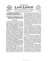 The New York Latin Leaflet : 1902 Mar. 3... Volume Vol. 2 by