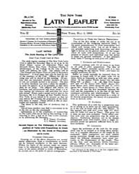 The New York Latin Leaflet : 1902 May 5 ... Volume Vol. 2 by