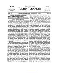 The New York Latin Leaflet : 1902 Oct. 2... Volume Vol. 3 by