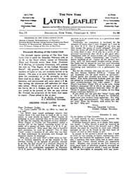 The New York Latin Leaflet : 1904 Feb. 8... Volume Vol. 4 by