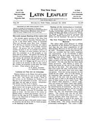 The New York Latin Leaflet : 1904 Jan. 2... Volume Vol. 4 by