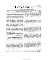 The New York Latin Leaflet : 1904 May 2 ... Volume Vol. 4 by