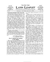 The New York Latin Leaflet : 1905 Jan. 9... Volume Vol. 5 by