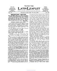 The New York Latin Leaflet : 1905 Oct. 2... Volume Vol. 6 by