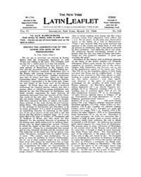 The New York Latin Leaflet : 1906 Mar. 1... Volume Vol. 6 by