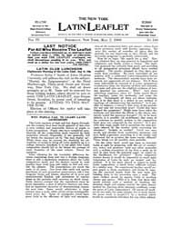 The New York Latin Leaflet : 1906 May 7 ... Volume Vol. 6 by