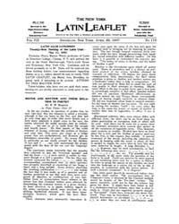 The New York Latin Leaflet : 1907 Apr. 2... Volume Vol. 7 by
