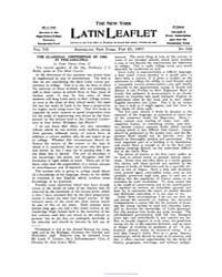 The New York Latin Leaflet : 1907 Feb. 2... Volume Vol. 7 by