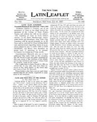 The New York Latin Leaflet : 1907 Jan. 2... Volume Vol. 7 by