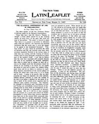 The New York Latin Leaflet : 1907 Mar. 1... Volume Vol. 7 by