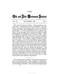The Old and New Testament Student : 1889... Volume Vol. 9 by