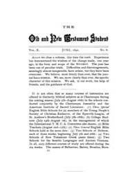 The Old and New Testament Student : 1890... Volume Vol. 10 by