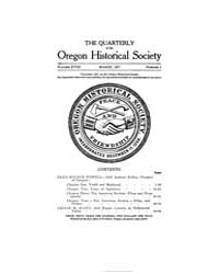 The Quarterly of the Oregon Historical S... by