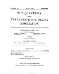 The Quarterly of the Texas State Histori... by
