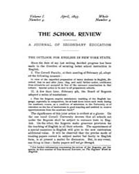 The School Review ; Volume 1 : No 4 : Ap... by