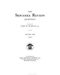 The Sewanee Review ; Volume 25 : No 1 : ... by
