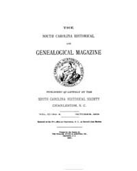 The South Carolina Historical and Geneal... by