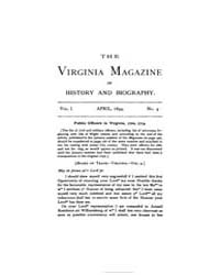 The Virginia Magazine of History and Bio... by