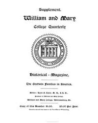 The William and Mary Quarterly ; Volume ... by
