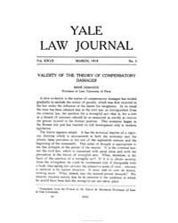 The Yale Law Journal ; Volume 27 : No 5 ... by Yale Law School