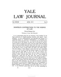 The Yale Law Journal ; Volume 28 : No 8 ... by Yale Law School