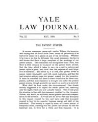 The Yale Law Journal ; Volume 3 : No 5 :... by Yale Law School