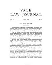 The Yale Law Journal ; Volume 3 : No 6 :... by Yale Law School