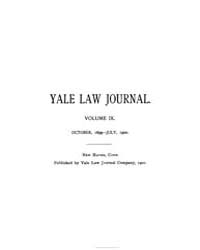 The Yale Law Journal ; Volume 9 : No 1 :... by Yale Law School