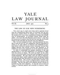 The Yale Law Journal ; Volume 9 : No 9 :... by Yale Law School