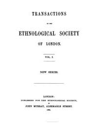 Transactions of the Ethnological Society... by
