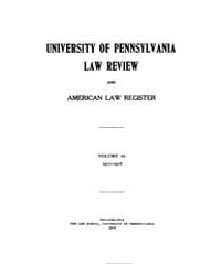University of Pennsylvania Law Review an... by