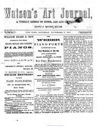 Watson's Art Journal ; Volume 8 No 2 Nov... by Watson, Henry C.
