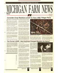 Michigan Farm News : Number 8, 1992-430 by Michigan State University